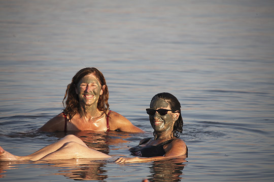 JoAnne Kalish with Hannah Or-ly Dead Sea 2009 © Joe DiMaggio