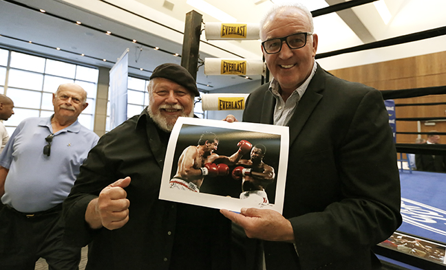 John Moss Sr., Joe DiMaggio, and Gerry Cooney © JoAnne Kalish